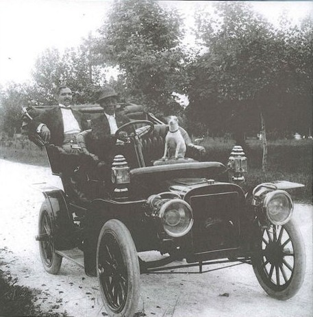 My grandfather, Dr. Joseph Hardin, on his way to a house call in New Orleans, LA